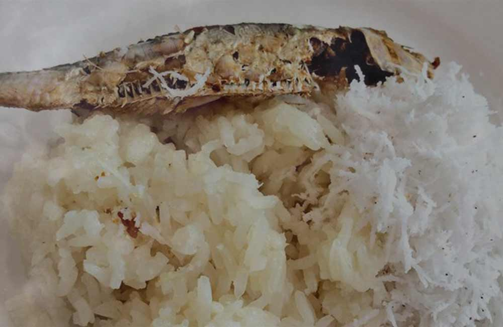 GLUTINOUS RICE WITH DRIED FISH